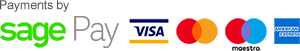 Payments by Sage Pay - Visa, Mastercard, Maestro and American Express cards accepted